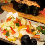 Salad and sushi — Stock Photo #1958415
