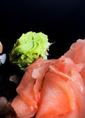 Ginger and wasabi — Stock Photo