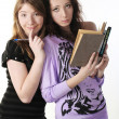 Stock Photo: Two students portrait.