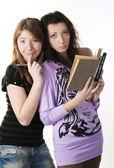 Portret dwóch studentów. — Zdjęcie stockowe
