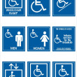 Stock Photo: Handicap signs