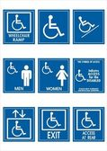 Handicap signs — Stock Photo