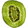Closeup slice of kiwi — Stock Photo