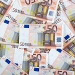 Fifty euro notes — Stock Photo