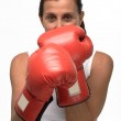 Mature woman boxing — Stock Photo #1907089