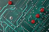 Macro de placa de circuito impresso — Foto Stock