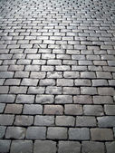 Stone block paving background — Stockfoto