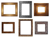Decorative Empty Wall Picture Frames — 图库照片