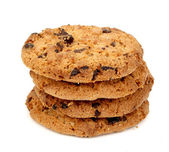 Isolated Chocolate Chip Cookies — Stock Photo