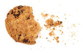Broken chocolate chip cookie — Stock Photo