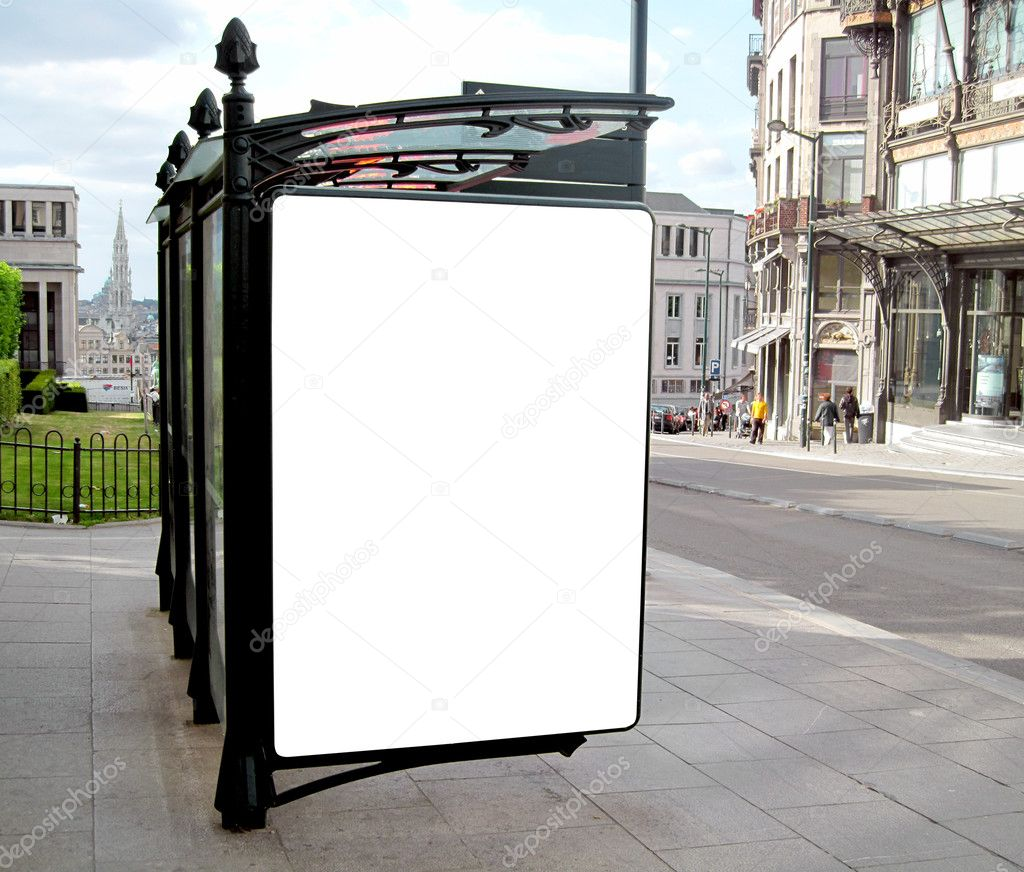 This is for advertisers to place ad copy samples on a bus shelter                            — Стоковая фотография #1906590