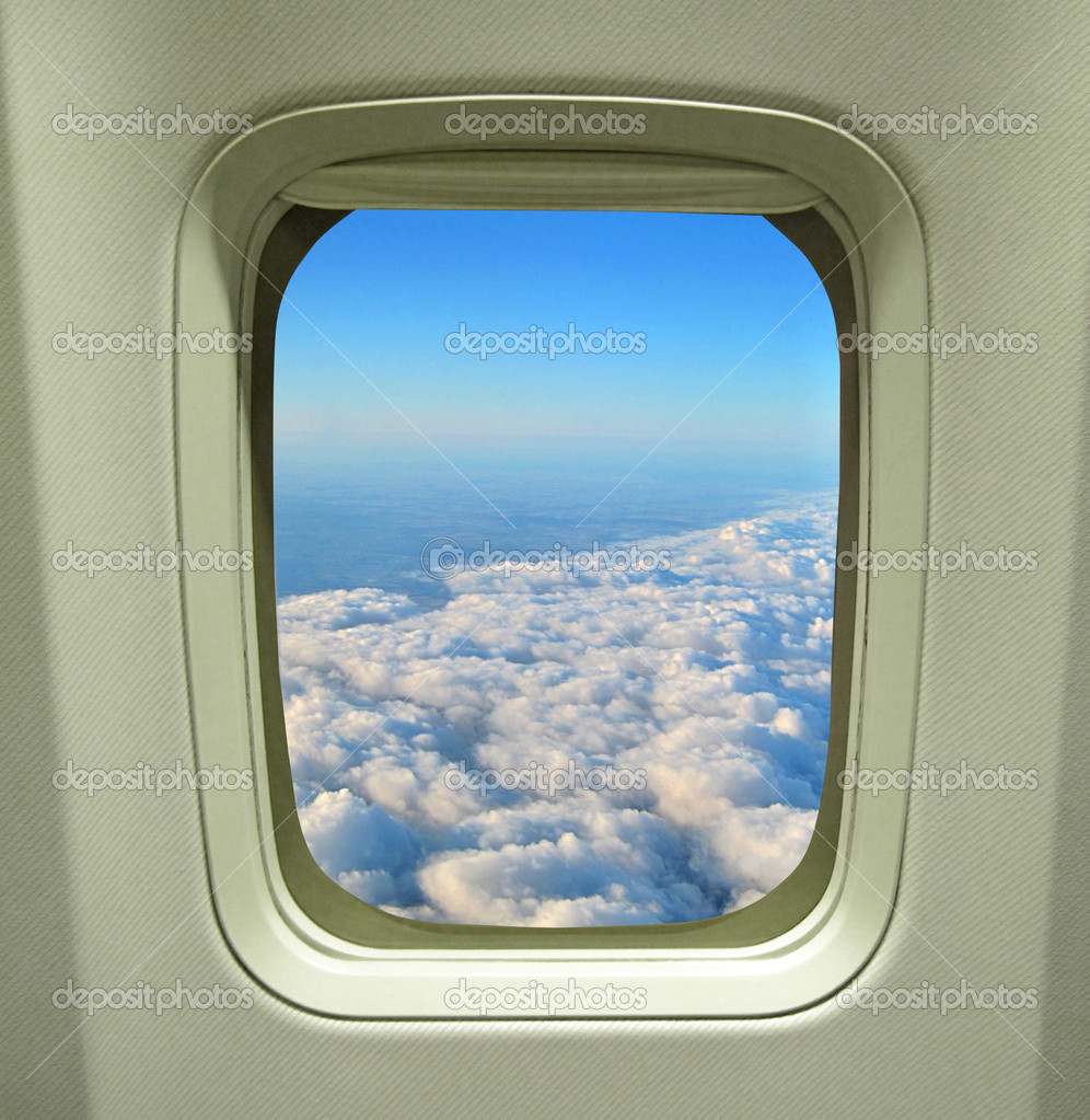A view of clouds from an airplane window                       — Stock Photo #1906677