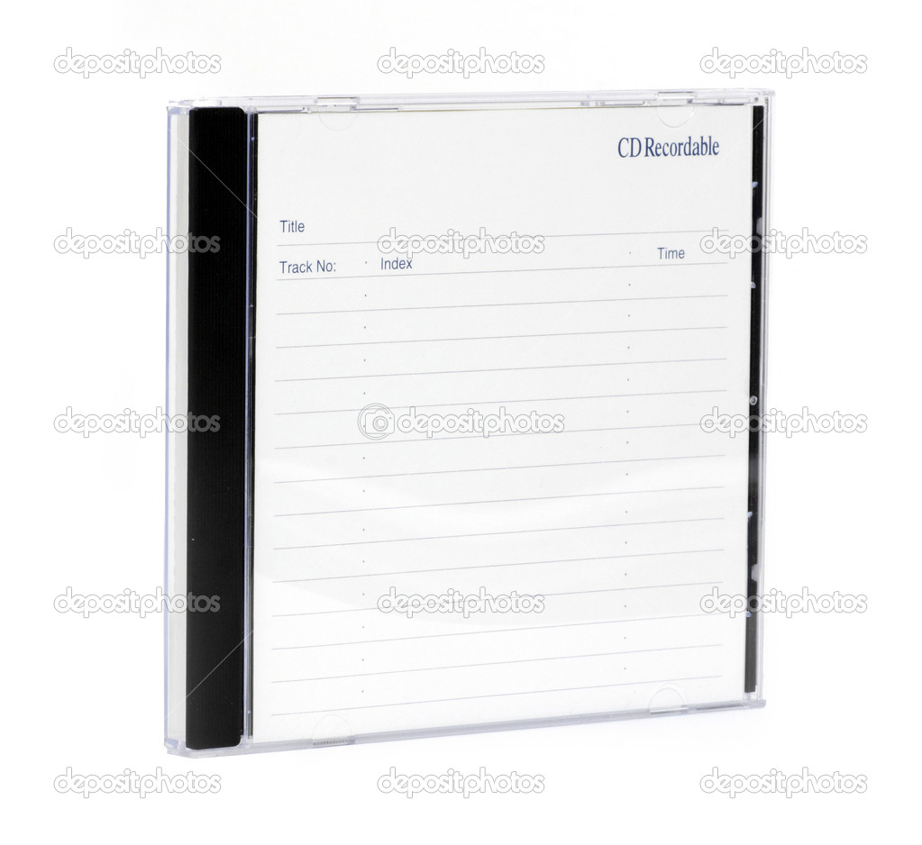 Cd case isolated on a white background — Stock Photo #1907043