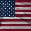 Stock Photo: Satin USA flag