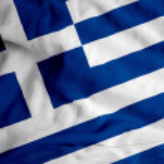 Greek flag waving — Stock Photo #1984626