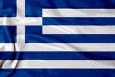 Satin Greek flag — Stock Photo