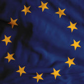 Satin Europa flag — Stock Photo