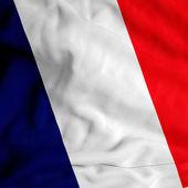French flag on satin texture — Stock Photo