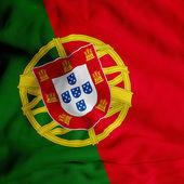 Satin Portuguese flag — Stock Photo