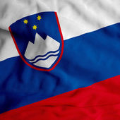 Slovenian flag — Stock Photo