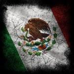 Grunge flag of mexico — Stock Photo