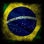 Grunge flag of brazil — Stock Photo
