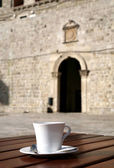 Cup of cafe in Dubrovnik - Croatia, cafe — Stock Photo