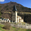 Small church in village – French Alps — Foto de Stock