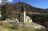 Small church in village – French Alps — Stock Photo