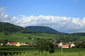 Vosges and Haut-Koenigsbourg castle — Stock Photo