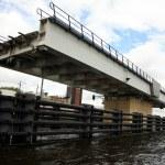 Swing bridge. Netherlands, Dutch canal. — Stock Photo #2007632