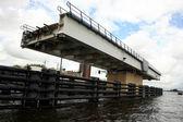 Swing bridge. Netherlands, Dutch canal. — Stock Photo