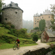 Old castle in Ardennes Mountain - Belgiu — Stock Photo