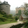 Old castle in Ardennes Mountain - Belgiu - Stock Photo