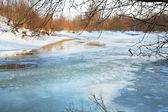 Río de invierno — Foto de Stock