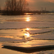 Stock Photo: Vistulriver in Poland - sunset.