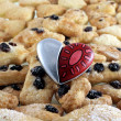 Shortbreads in shape of heart — Photo