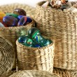 Ornaments in wicker — Stock Photo