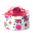 Box with rose - Stock Photo