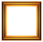 Square gold frame — Stock Photo