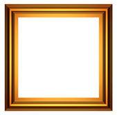 Square gold frame — Stock Photo