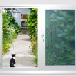 Stock Photo: View from window lane at cat