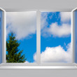 View from the window of blu sky and tree — Stock Photo #2259525