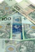 Arrow from polish banknotes — Stock Photo