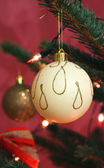 Balls on the christmas tree — Stock Photo