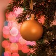 Stock Photo: Ball on christmas tree