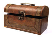 Antique rustic wooden box — Stock Photo