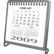 Royalty-Free Stock Photo: Alluminium and Chrome Desktop calendar