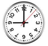 Clock on white — Stock Photo