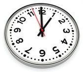 Black and white office clock — Stock Photo